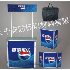 供应广州 铝合金直型促销台 户外折叠便携桌 超市试吃台 展示架广告桌 全铝促销台