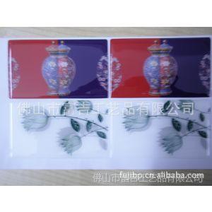 供应水晶滴胶 青花瓷不锈钢名片盒 名片夹 商务礼品 青花鼎 中国特色