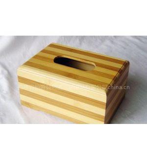 HS-0070正方形花板竹纸巾盒