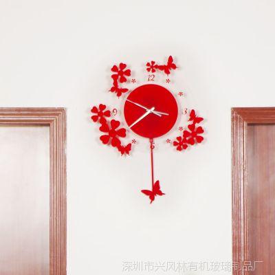 深圳宝安供应亚克力时钟贴 高档创意时钟墙贴 家居必备装修装饰品