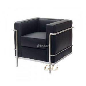 格友家具供应供应简约真皮LC-2办公沙发
