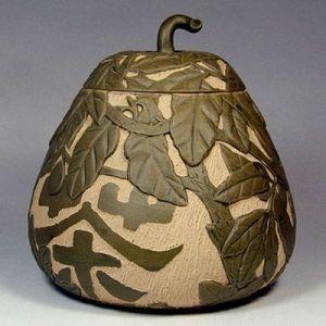 供应一斤宜兴紫砂茶叶罐《梨型醒茶罐》紫沙茶罐