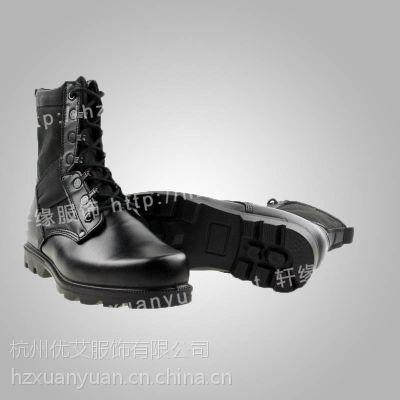 供应3515强人头层牛皮男士单靴休闲真皮高帮靴战斗靴 07双密度作战靴
