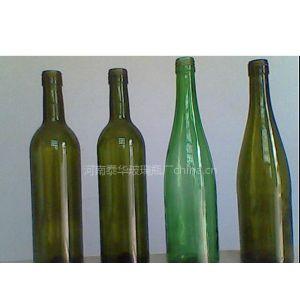 供应墨绿红酒瓶绿色红酒瓶啤酒瓶透明玻璃瓶