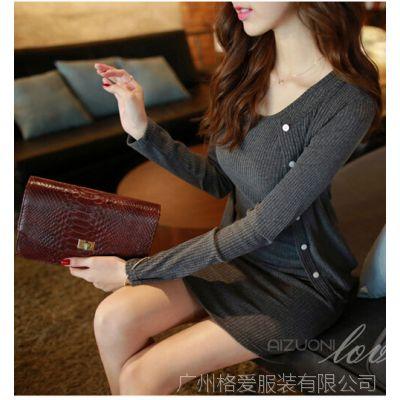 14韩国代购女装批发代理代发修身显瘦包臀背心裙配开衫外套