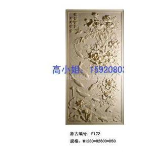 广州源古砂岩浮雕、人造砂岩花开富贵浮雕、仿石植物精品壁画