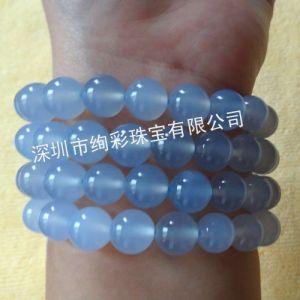 供应天然蓝玉髓手链,时尚精美水晶手链,蓝玉髓手链批发,价格优!