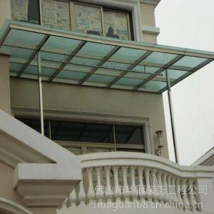 供应佛山不锈钢雨棚 阳光雨棚 玻璃雨棚 钢结构雨蓬厂价供应 华冠门窗装饰