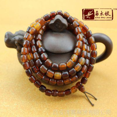 长手链复古长手串民族天然高原牦牛角仿古桶珠长串手链项链佛珠