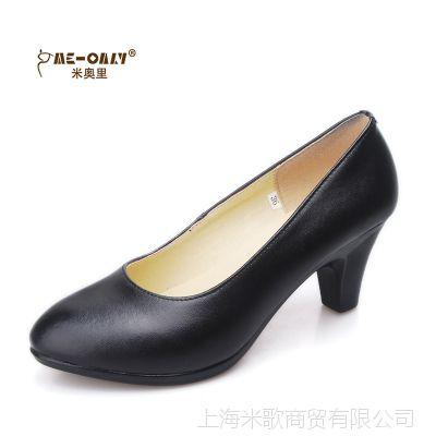 2014春款真皮女鞋高跟工作鞋黑色 酒店鞋OL职业鞋小码34大码40 41