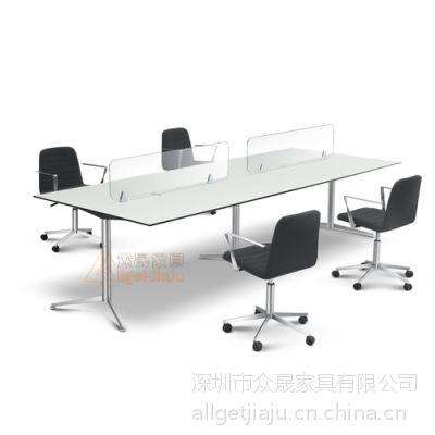 供应深圳众晟家具DAWN-M001 #304不锈钢台架系统办公桌定制