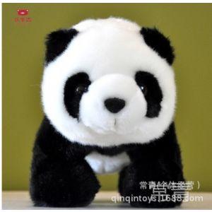 供应毛绒玩具仿真大熊猫公仔玩偶 圣诞生日礼物粒子熊猫厂家直销批发