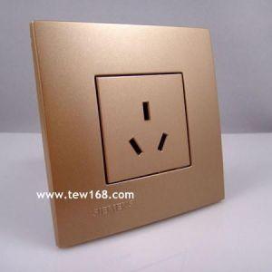 供应西门子开关插座价格 墙壁开关插座品牌 西门子灵致铜色/10A三极插座