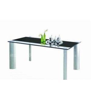 供应简约风格餐台/玻璃餐桌/玻璃餐台/五金家具