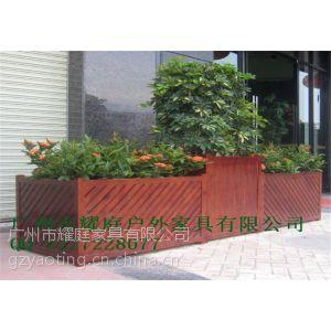 供应广州哪里有广场装饰木花盆卖?