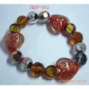 供应厂家批发订做手工串珠手镯 水晶珍珠手镯 佛珠手镯