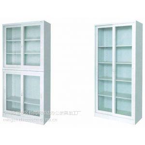 供应明志达厂家供应钢制玻璃门文件柜定制 收纳柜