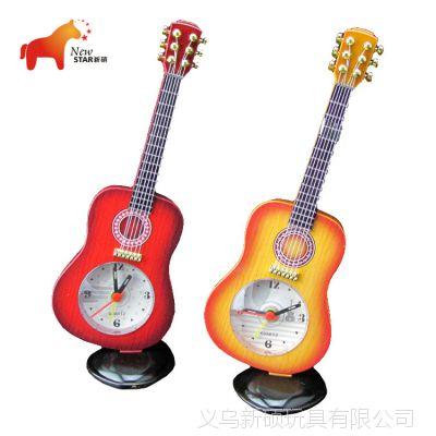 新月工艺 厂家直销 小提琴钟表工艺品摆件 儿童房时钟
