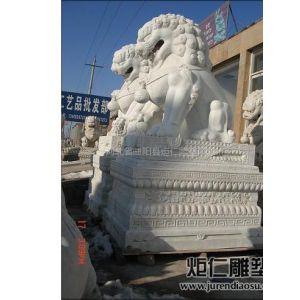 供应供应河北汉白玉石雕狮子、石雕牌坊