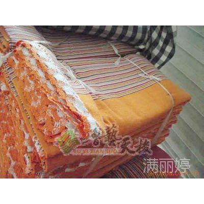 凉席 厂家直销小额批发 加工纯棉老粗布棉毯 四季毯带花边三件套