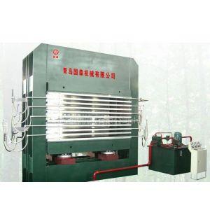 供应青岛国森牌500吨细木工板热压机设备