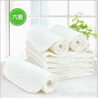 婴儿6层生态棉尿片批发 宝宝六层加厚款生态棉尿布 儿童隔尿用品