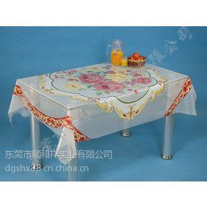 供应塑料桌布批发,塑料透明印花桌布,PVC透明印花桌布批发