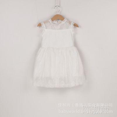 夏款童裙 新款韩版女童无袖连衣裙 儿童公主连衣裙 1263
