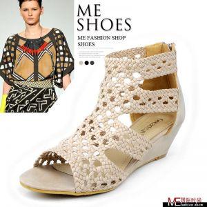 女鞋凉鞋 铆钉鞋 女鞋外贸单鞋 女式真皮皮鞋单鞋