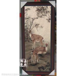 供应装饰粉彩瓷板画,鑫腾陶瓷,商务瓷板画