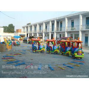 供应游乐场带轨道的小火车 室外儿童火车游乐设备 四节八座小火车