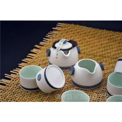 厂家直销雪花釉茶具批发 新款陶瓷茶具 功夫茶具 礼品茶具批发