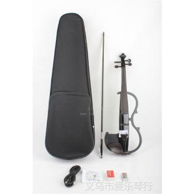 供应4/4黑色电声小提琴 亮光 艺术小提琴 拉弦类乐器 批发