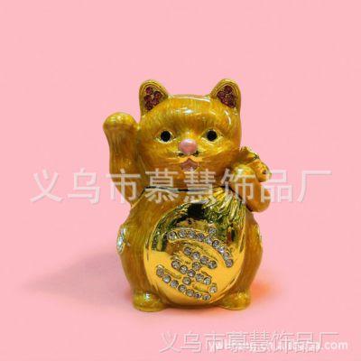 厂家批发 供应招财进宝系列 招财猫摆件 携宝招财猫首饰盒
