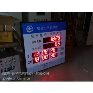 供应安全生产记录看板:实时监控生产安全计划,日期,天数。