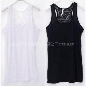 供应夏女装2012新款韩版蕾丝纯棉打底衫T恤弹性工字型小吊带背心