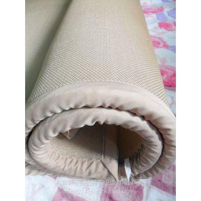 常熟富强批发3D床垫网眼布 透气床垫材料 三明治涤纶面料环保健康