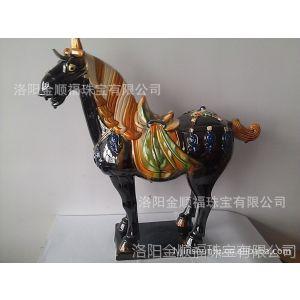 供应厂价直销 陶瓷新工艺唐三彩---(马到成功)品质上乘 质量考究