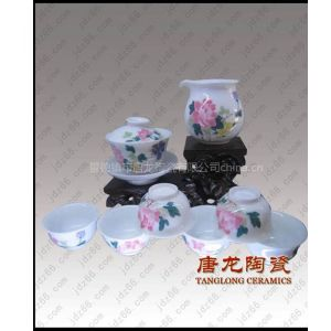 供应景德镇青花瓷茶具订做单位庆典纪念茶具