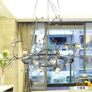 供应中山灯饰厂家欧式水晶吊灯 创意酒店餐厅客厅水晶灯 个性艺术吊灯 树枝圆形【卡迪森】