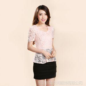 供应短袖包臀连衣裙批发 工厂直销蕾丝连衣裙代理一件代发 9950