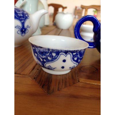 定做手绘青花茶具 生产精美陶瓷礼品茶具