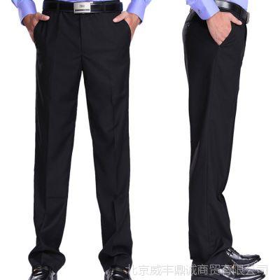 男士黑色西装裤酒店服务员工作裤男裤酒店服务生职业装春夏工作裤