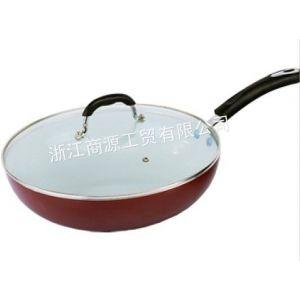 供应正品华万多陶瓷不粘炒锅 陶晶涂层不粘锅无烟锅32cm
