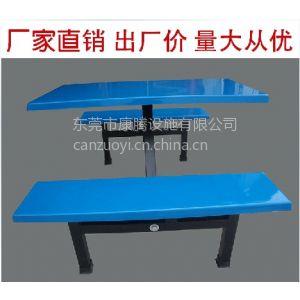 供应餐桌椅批发 玻璃钢餐桌椅组合 饭堂餐厅餐桌 快餐连体桌 学生餐桌椅折叠桌