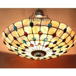 供应供应贝壳吸顶灯蒂凡尼彩色玻璃卧室书房客厅灯具批发工厂直销
