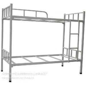 供应明志达上下铺铁床 员工宿舍公寓床 高低床