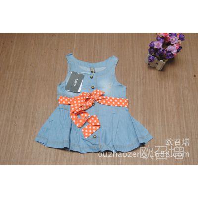 ZARA童裙  Z*儿童牛仔连衣裙 出口欧美外贸儿童连衣裙  外贸童裙