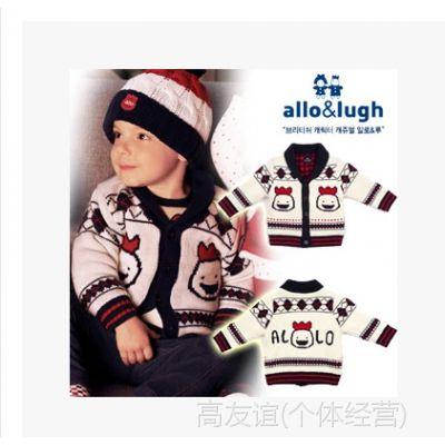 HGallolugh14冬季新款男童保暖毛衣针织开衫宝宝绅士毛衫外套原单