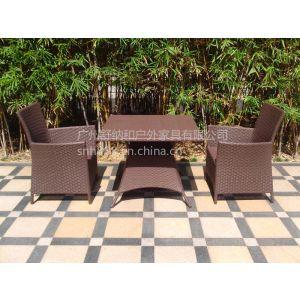 供应编藤餐桌椅,餐桌椅定制,厂家供应仿藤桌椅